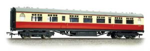 Bachmann 34-386 BR Thomspon 2nd Class Corridor, Carmine/Cream Livery